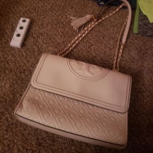 Tory Burch large fleming in birch color